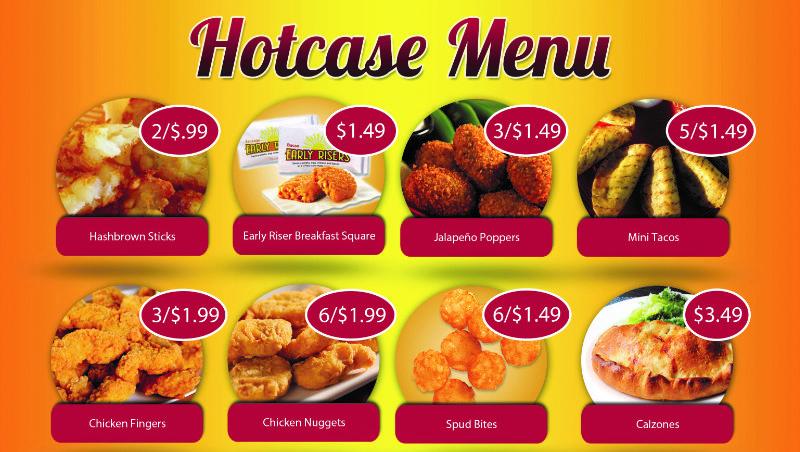 Hotcase menu